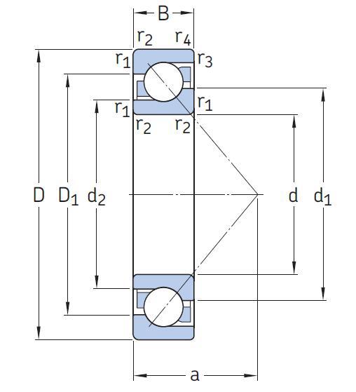 73 系列角接触角球轴承