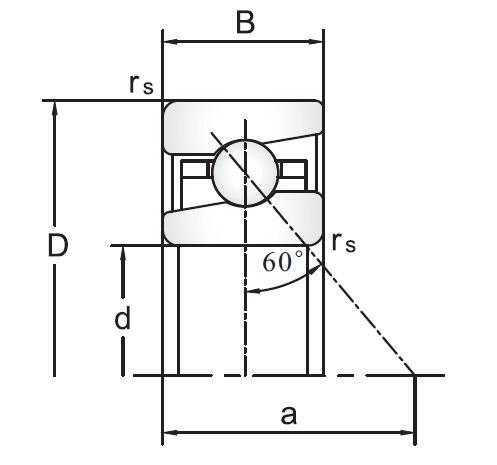 BS滚珠丝杠角接触角球轴承