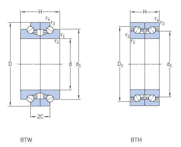 BTW BTM 系列角接触角球轴承