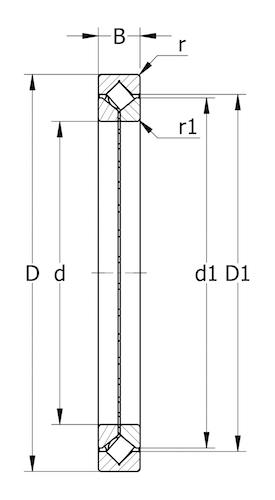 XR/JR系列交叉滚子轴承