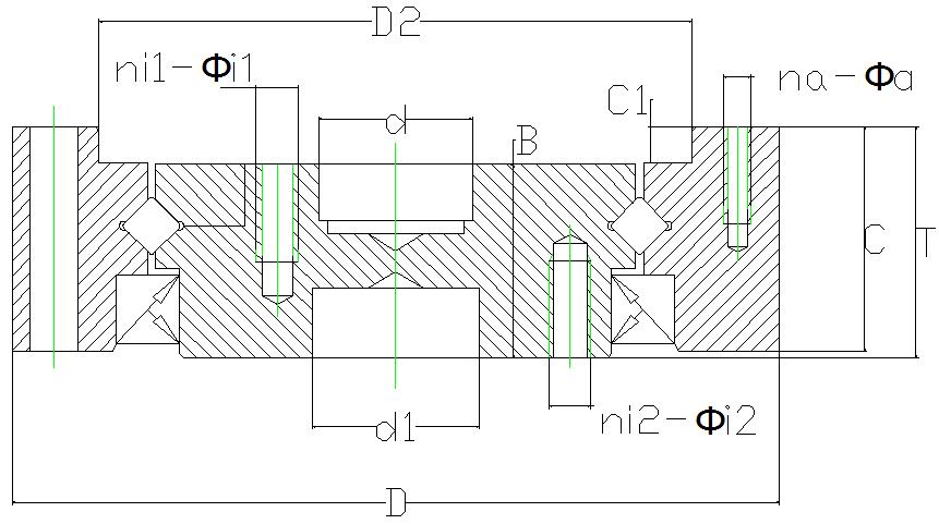 CSDSHF谐波减速机交叉滚子轴承